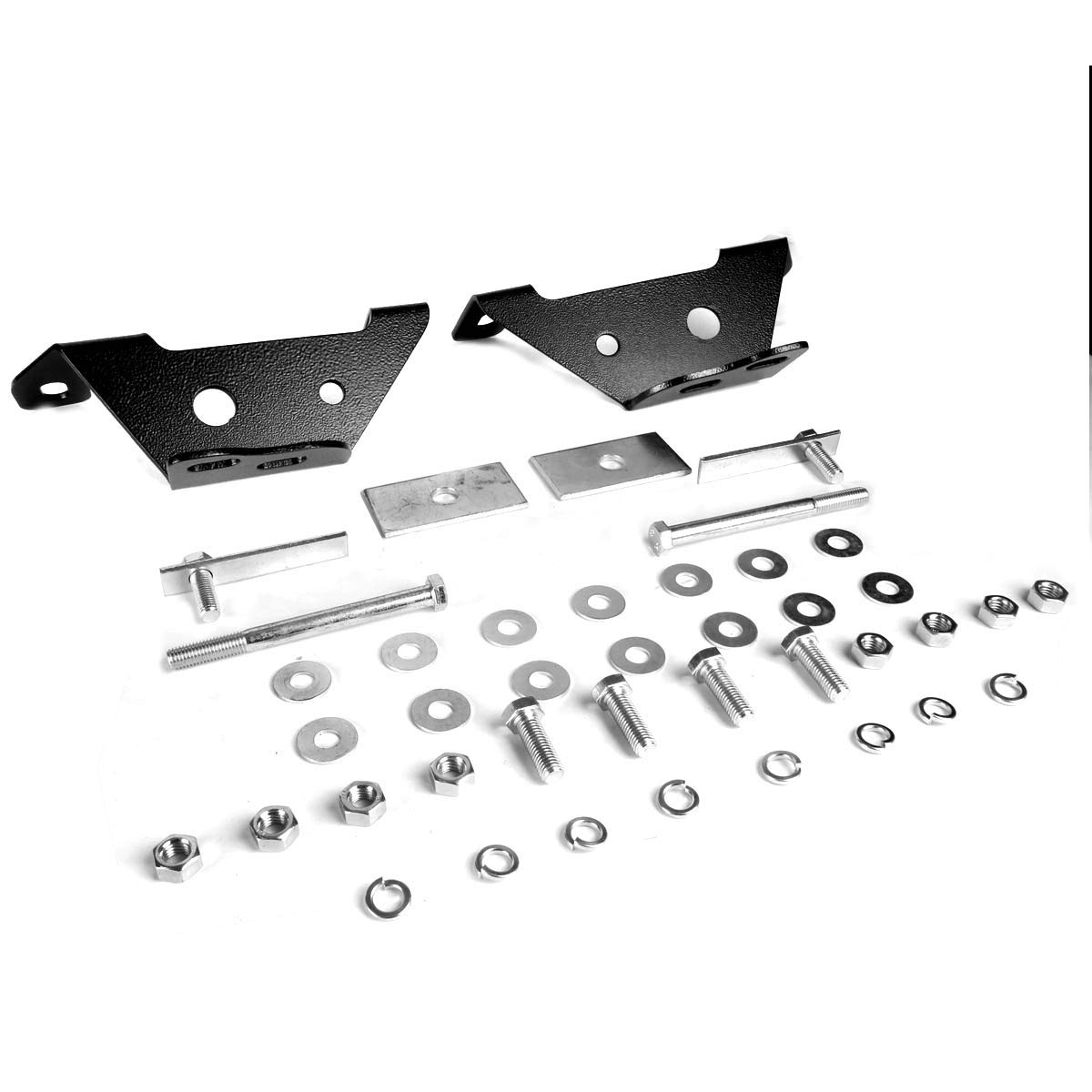 For Ford F150//250//Expedition Light Duty 3 Bumper Push Bull Bar+Removable Skid Plate Black