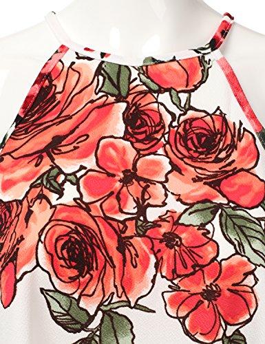 Halter rosered Neck Doublju Square Dress Swing Awdsd0758 Size Plus Neck Women vqwTwHAn1E