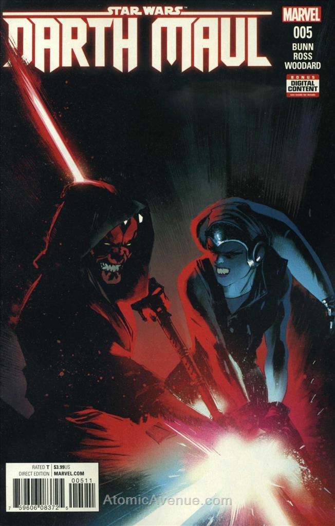 Darth Maul #5 VF/NM ; Marvel comic book