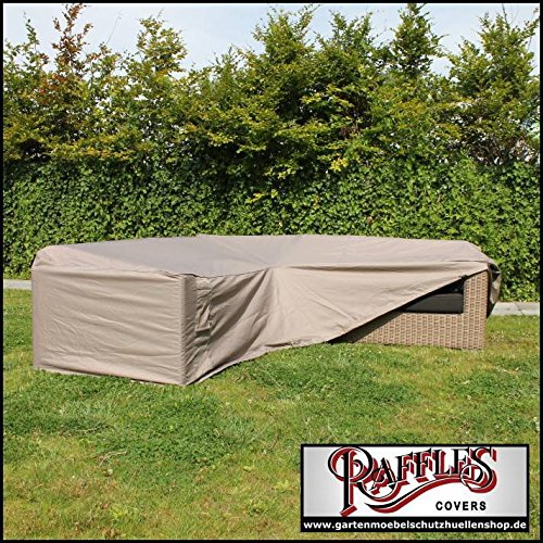 RHS270 Rattan corner sofa cover 270 x 270 x 100, H: 70 cm Cover for lounge corner sofa, Lounge sofa cover, Cover for L-shape sofa Raffles Covers