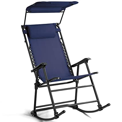 Amazon.com: Heize – Silla de balancín plegable, color azul ...