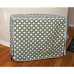 """Green Blue Swivel Dog Pet Wire Kennel Crate Cage House Cover (Small, Medium, Large, XL, XXL) (XL 42x28x31"""")"""