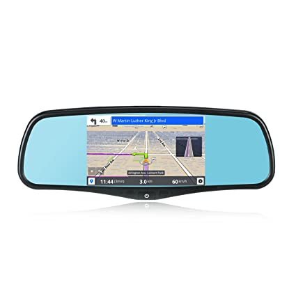 SmarTure 5'' Smart Android Rear View Mirror Quad Core with GPS  Navigation,Dash Camera,WIFI,Back Up Camera,Bluetooth,1GB RAM 8GB ROM 32GB  Card,Bracket