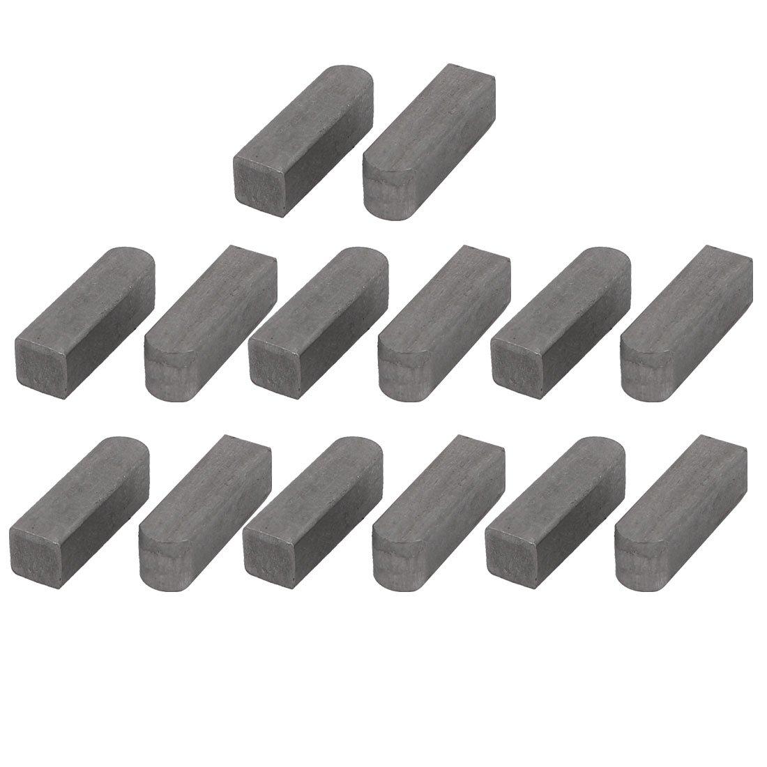 uxcell 20mmx6mmx6mm Carbon Steel Key Stock Keystock Gray 14pcs