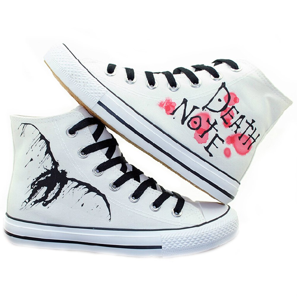 Death Note Cosplay Shoes Canvas Shoes Sneakers White by Telacos
