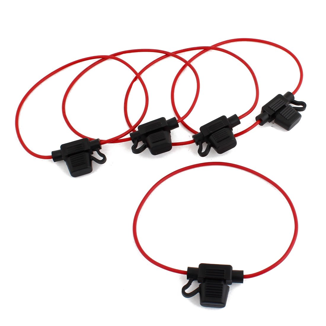 Car Blade Fuse Holder - SODIAL(R) 5 Pcs 32V 30A Mini ATC Blade Fuse Holder Container 064409
