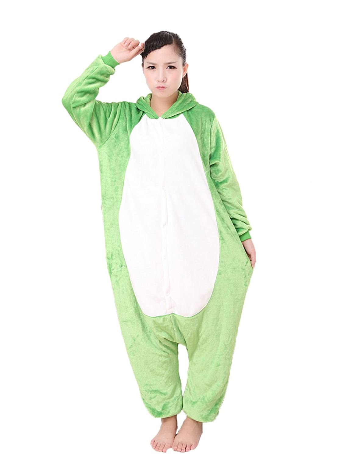 Women's Green Frog Onesie Adult Pajamas Cosplay Costume