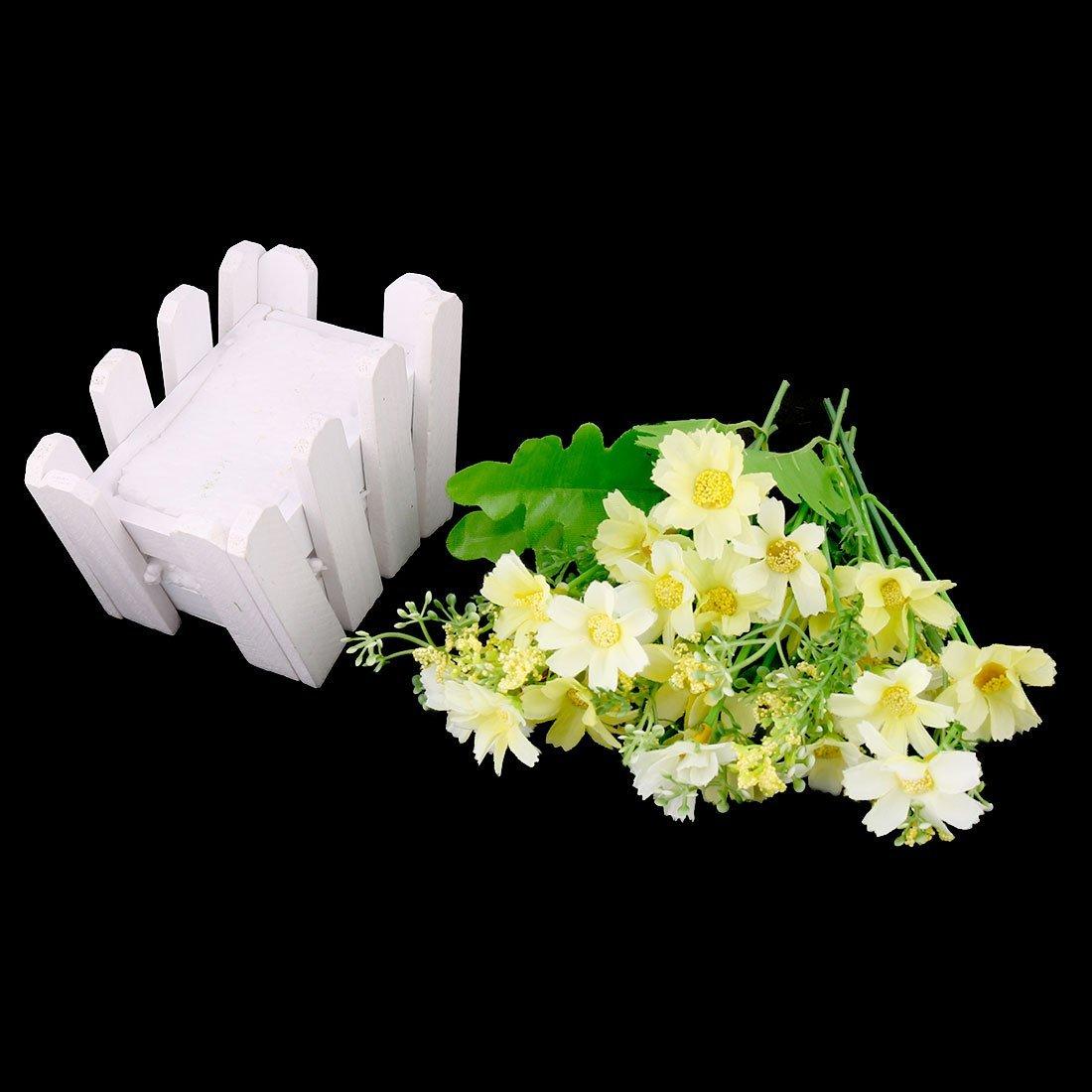 Amazon.com: eDealMax Plantas Tela de la boda de la Margarita Brotes de sobremesa ornamento Artificial de Emulational de Flores: Home & Kitchen