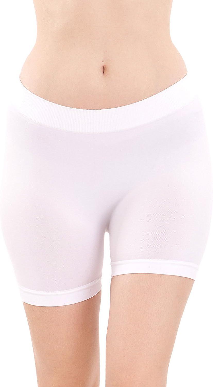 MOPAS Womens Basic Solid Biker Short Spandex Yoga Leggings (12 inch)