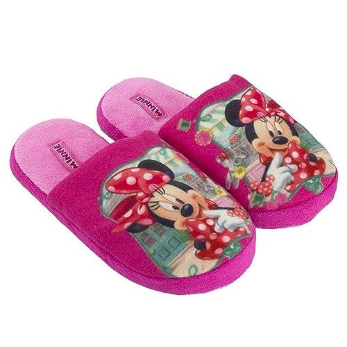 Disney Zapatillas de estar Por casa de Terciopelo Para Niña Rosa Rosa, Color Rosa, Talla 31/32: Amazon.es: Zapatos y complementos