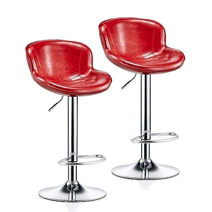 Remarkable Amazon Com Cylq Rotating Bar Stool Set Of 2 Adjustable Machost Co Dining Chair Design Ideas Machostcouk