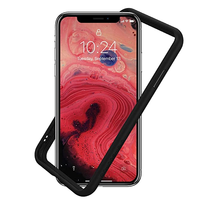 online retailer 41fa3 7a11d RhinoShield Ultra Protective Bumper Case for [ iPhone X/XS ] CrashGuard,  Military Grade Drop Protection for Full Impact, Slim, Scratch Resistant, ...