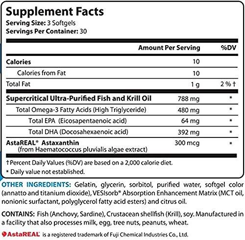 BioTrust OmegaKrill 5X Omega-3 Fatty Acid Supplement, 90 softgels (3-pack)