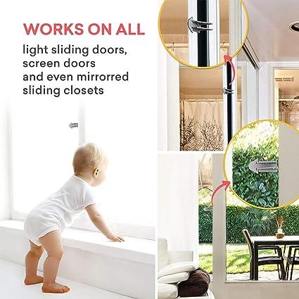 6pack Adhesive Sliding Door Lock Child Window Locks For Patio Closet