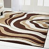 Home Dynamix Sumatra Okeeffe Area Rug 19.6″x31.5″, Abstract Brown