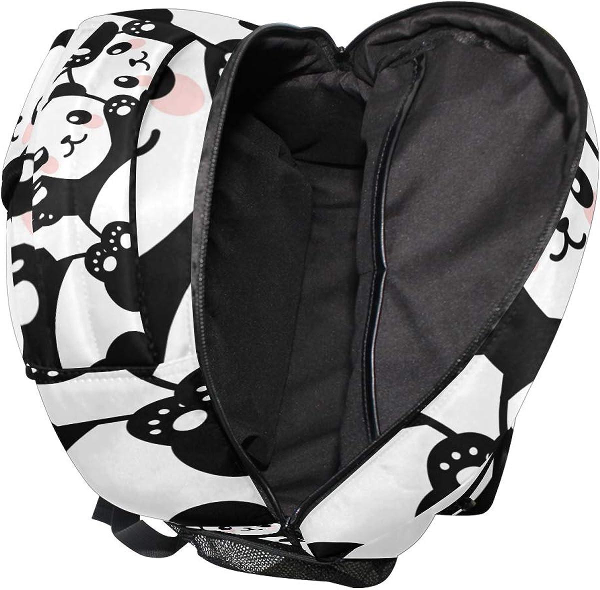 MAPOLO Laptop Backpack Pandas Babies Climbing Casual Shoulder Daypack for Student School Bag Handbag Lightweight