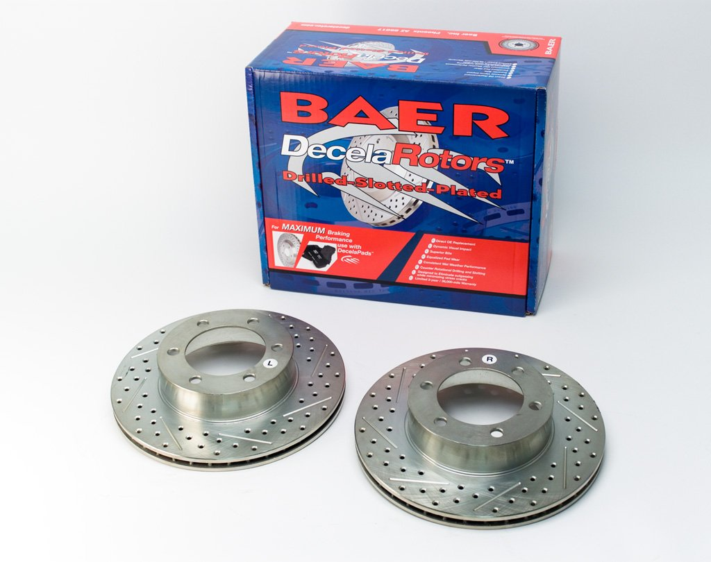 Pair Baeer Brakes BAER 31204-020 Sport Rotors Slotted Drilled Zinc Plated Front Brake Rotor Set