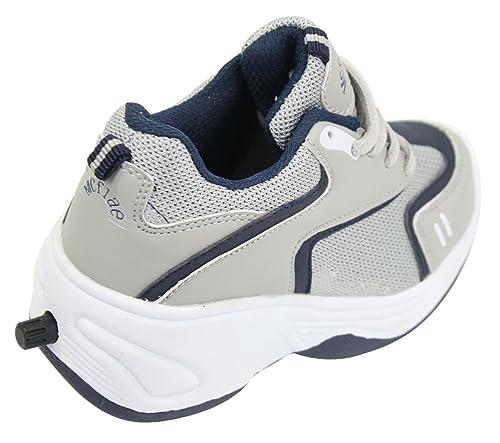 McFlae Kinder Sportschuhe Grau Marineblau Rollerschuhe