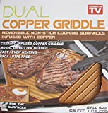 As Seen on TV Dual REVERSIBLE NON-Stick COPPER GRIDDLE 10.5' x 10.5' Ceramic Infused Copper Griddle is PFOA / PTFE FREE (2017)