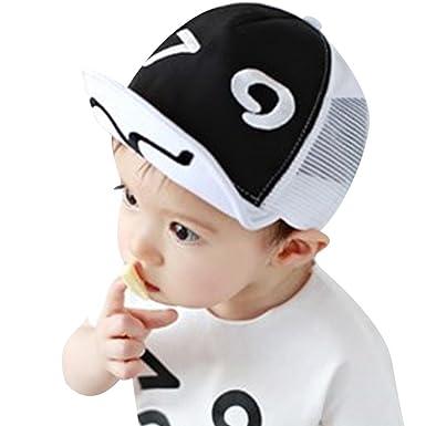La Cabina Bébé Casquette de Baseball -Chapeau Enfants d été et Automne  -Chapeau Fille Garçon de Plage -Chapeaux de Soleil Protection -Chapeaux  pour 0-3 ans ... b0dbf1001c8