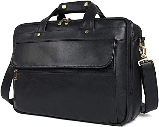 Mens Briefcase Mens Leather Travel Carry On Bags Holdal 20 Inch Water Waterproof Messenger Bag Laptop Rucksack Travel Tote Business Briefcase
