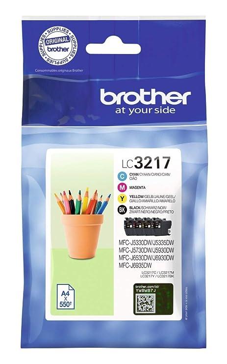 Brother lc3217val cartucho de tinta - negro/cian/magenta/amarillo ...