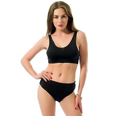 Vestidos Black Vest Two-piece Bikini Swimsuit