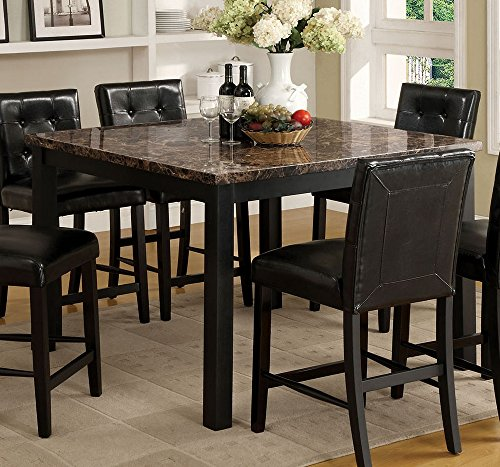 Furniture of America CM3870PT Boulder II Square Counter Leg Dining Tables