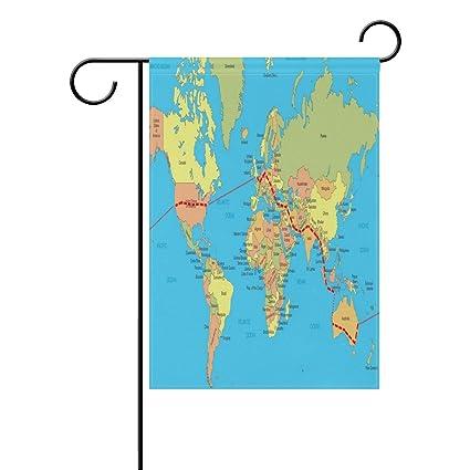 Amazoncom Eakllci Garden Flag Design Your Own Map Style Polyester