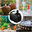 Homasy 400GPH Submersible Pump 25W Fountain Water Pump with For Aquarium, Fish Tank, Pond, Hydroponics