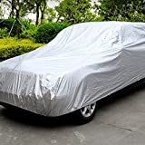 KKmoon Full Car Cover Universal Fit Indoor & Outdoor Sunscreen Heat Protection Dustproof Anti-UV Scratch-Resistant Sedan Universal Suit