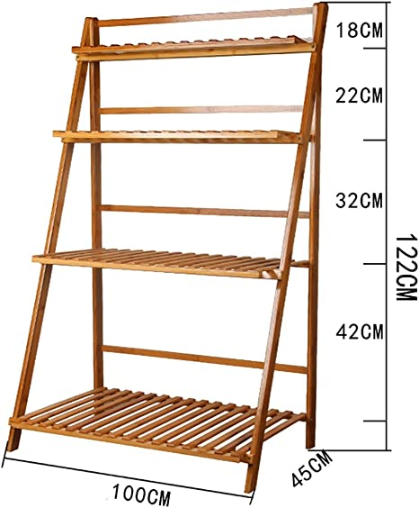 Chairs FL estantes para Plantas/estanteria Jardin Estante de Flor Plegable de Madera Maciza de Flores de Estilo Moderno y Simple de Interior y Exterior de Varias Plantas estanterias de Jardin: Amazon.es: Hogar