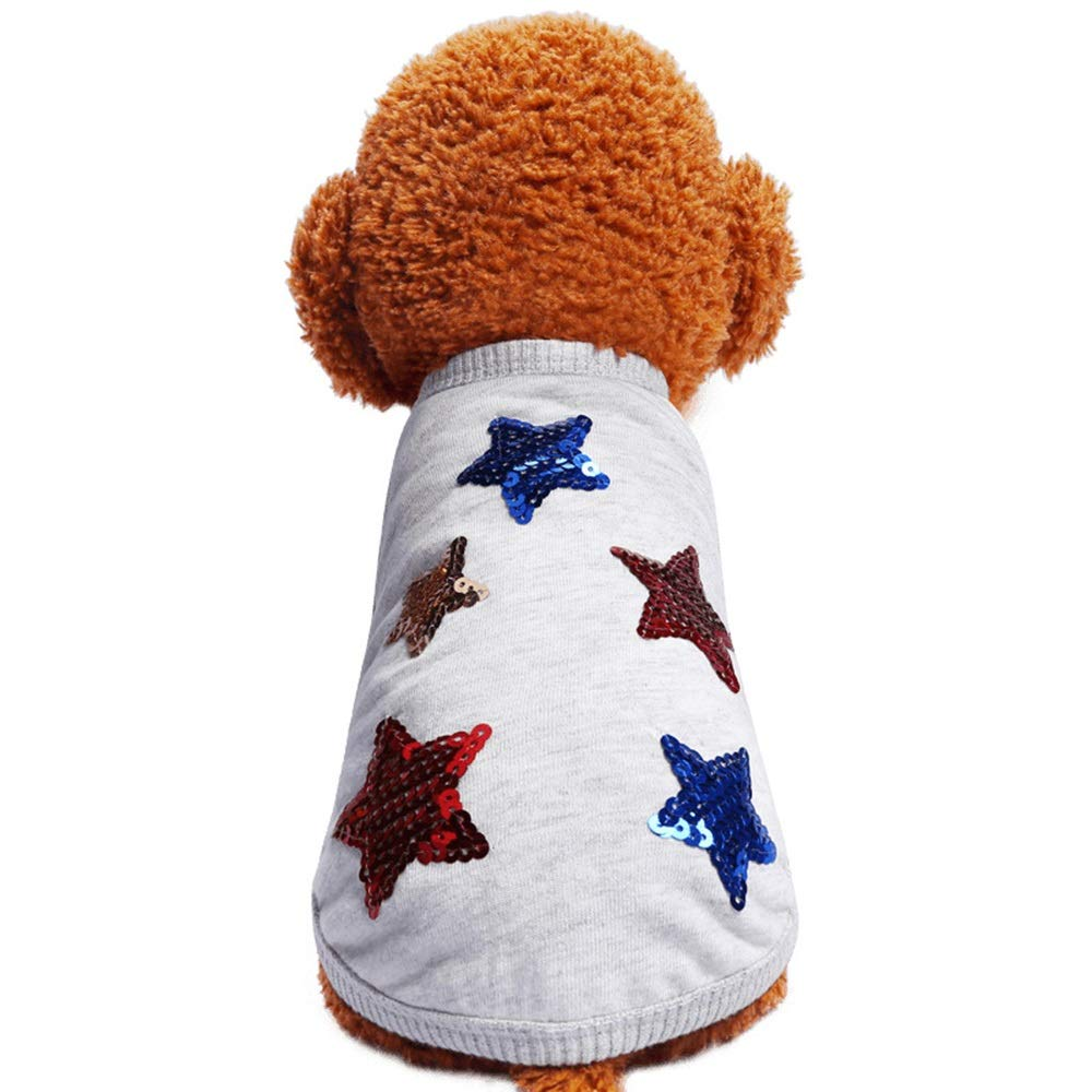 As shown XS As shown XS Huayue Pet Clothing Cotton Puppy Vest Dog T-Shirt Breathable and Comfortable pet Clothing (color   As Shown, Size   XS)