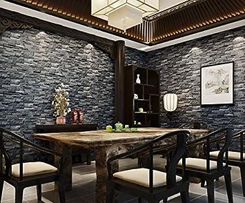 Moderne 3D-grau Brick Muster Tapete Antik Restaurant und Barstyle ...