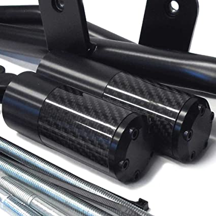 2013-2017 Kawasaki Ninja 300R (Fits ABS and Non ABS) NO CUT Carbon Fiber Frame Sliders - 710-4129 - MADE IN THE USA