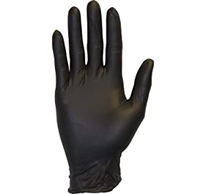 Black Nitrile Exam Gloves - Medical Grade, Disposable, Powder Free, Latex Rubber Free, Heavy Duty, Textured, Non Sterile, Work, Medical, Food Safe, Cleaning, Wholesale, Size Extra Large (Case of 1000)