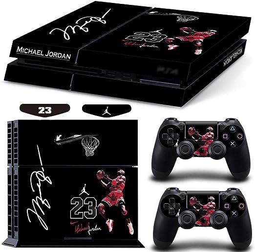 NO.23 Basketball Legend Cover Michael Jordan Calcomanía Sony Playstation 4 Consola Y 2 Controladores Accesorios para Vinyl Cover Decal PS4 Etiqueta De La Piel: Amazon.es: Hogar