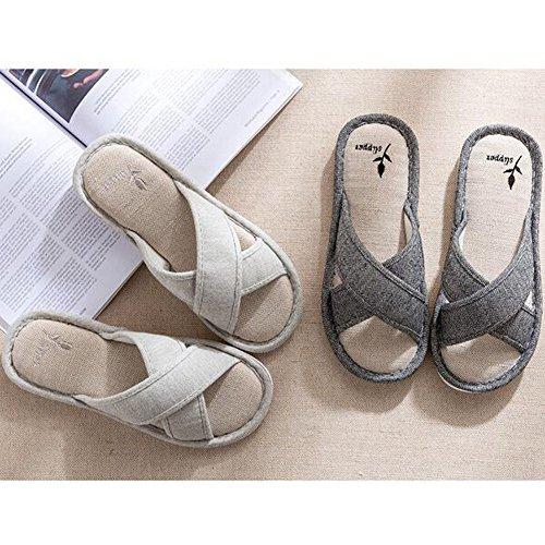 SCIEU Men's Open-Toe House Slippers Black 8Zs1bV