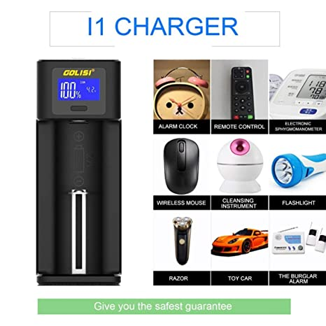 Garciasia Golisi i1 Smart Charger Pantalla LCD Cargador de ...