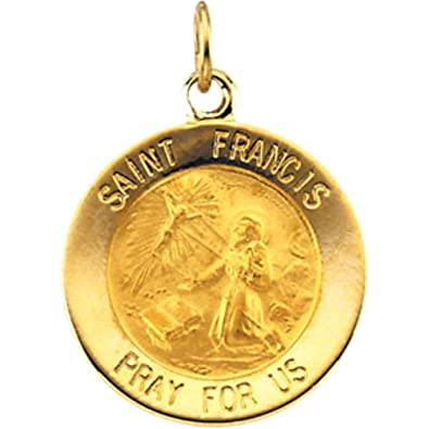 Amazon 14k yellow gold st francis of assisi medal 12mm the amazon 14k yellow gold st francis of assisi medal 12mm the mens jewelry store private collection jewelry aloadofball Choice Image