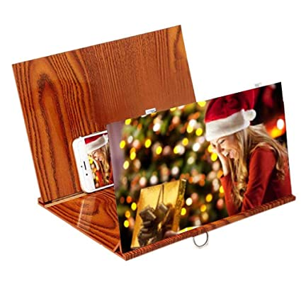 Womdee Lupa de Pantalla de teléfono portátil 3D, 12in teléfono móvil Lupa Pantalla 3D HD