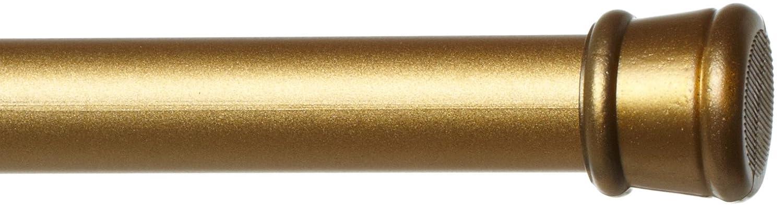 Achim Home Furnishings Shower Curtain Rod, Gold 569-0-PK12