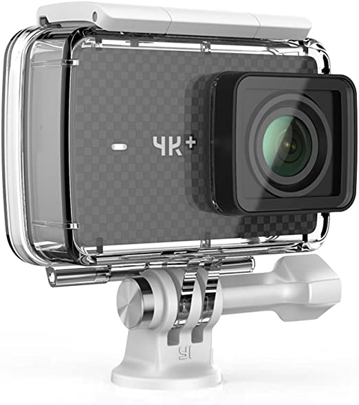 YI 4K+ - Cámara de Acción / Deportiva de 4K/60fps de pantalla táctil de 2.2 pulgadas con lente de ángulo amplio, carcasa impermeable, negro: Amazon.es: Electrónica