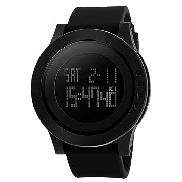 Sasairy Unisex Reloj de Pulsera Electrónica Multifuncional Simple Moda LED Reloj Digital Impermeable Deportivo Reloj para Hombre Mujer Estudientes, ...