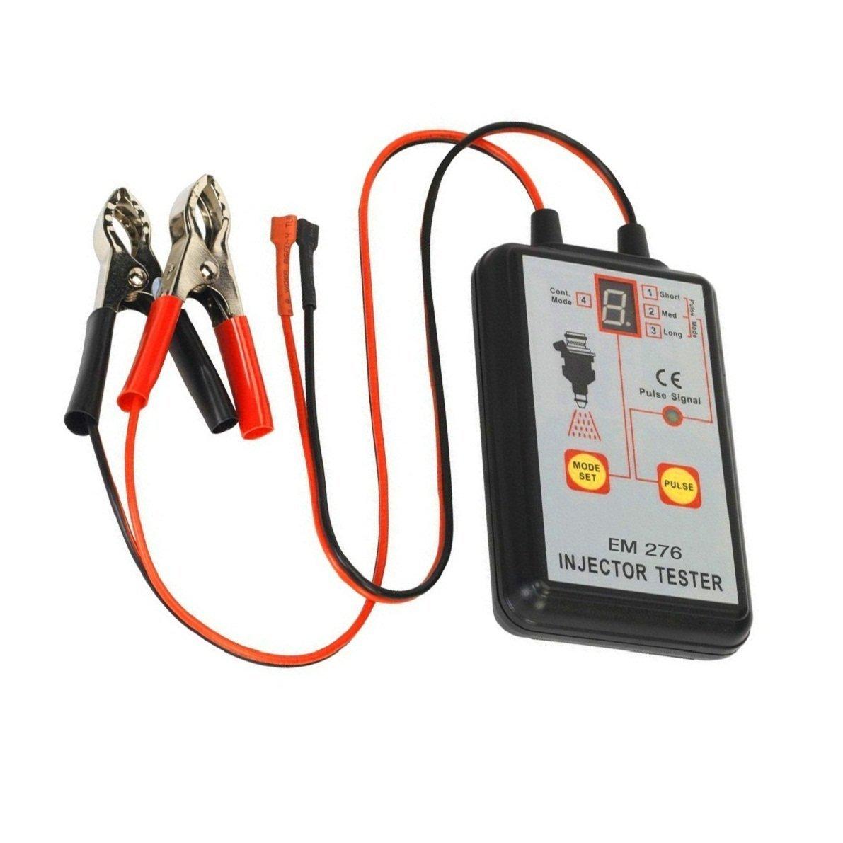 Handheld Car Vehicle Fuel Pressure System Diagnostic Scan Testing Tool Gauge Individual Test Stuck//Leaking//Burnt-out Problem Automotive Fuel Injector Tester 12V 4 Pulse Modes