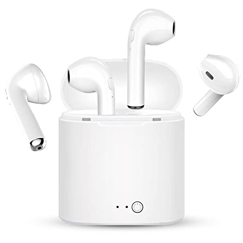 DERL Bluetooth headset, in-ear stereo wireless headset, noise reduction mini sports headset, charger and microphone, compatible with Samsung IPhone series, all high-end smartphone headsets