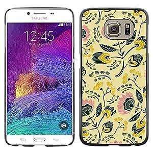 80S 70S Papier peint Design - Metal de aluminio y de pl¨¢stico duro Caja del tel¨¦fono - Negro - Samsung Galaxy S6