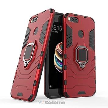 Cocomii Black Panther Armor Xiaomi Mi A1/Mi 5X Funda Nuevo [Robusto] Táctico Anillo Metálico Sujeción Soporte [Funciona con El Montaje De Coche ...