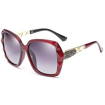 LQQAZY Polarizado Gafas De Sol Mujeres Marea Caja Grande Cara Redonda Gafas De Sol Cara Larga
