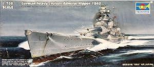 Trumpeter 1:700 German Heavy Cruiser Admiral Hipper 1940 Plastic Kit #05775